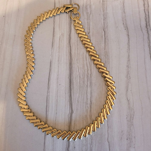Vintage Gold bar Choker