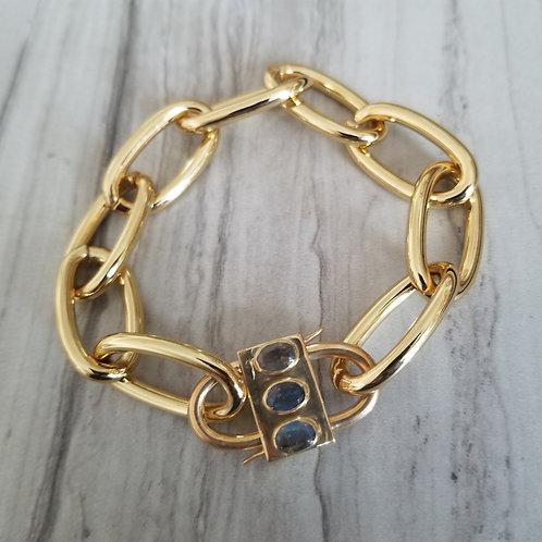 Labraorite Double Clip Bracelet