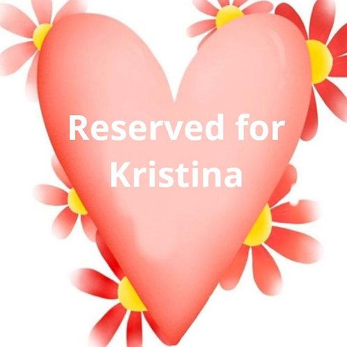 Custom listing for Kristina