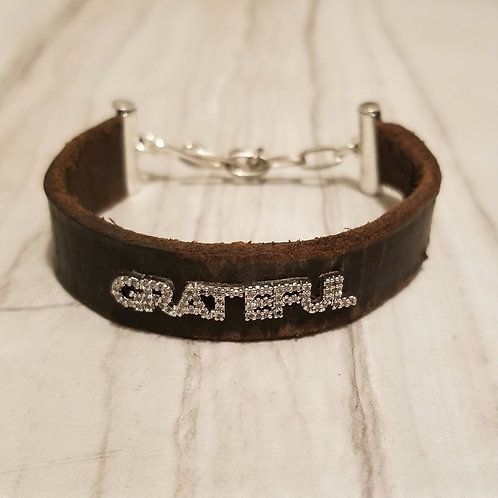 Vintage Leather Inspiration cuff
