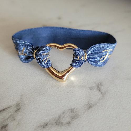 Floating Heart Bracelet / Hair Tie