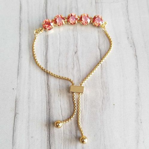 Slider Chain Gold Coral