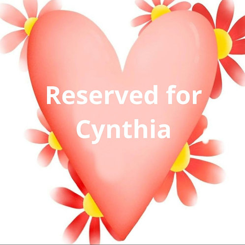 Custom Listing for Cynthia