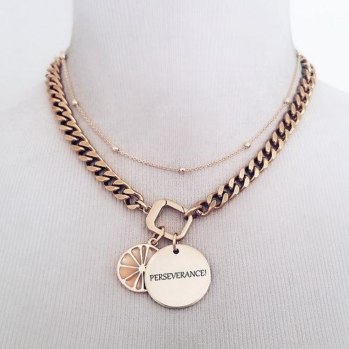 Perseverance Lemon Slice Necklace