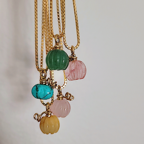 Pumpin Semiprecious Stone Necklace