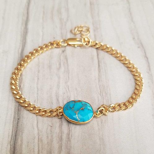 Turquoise Bezel Bracelet