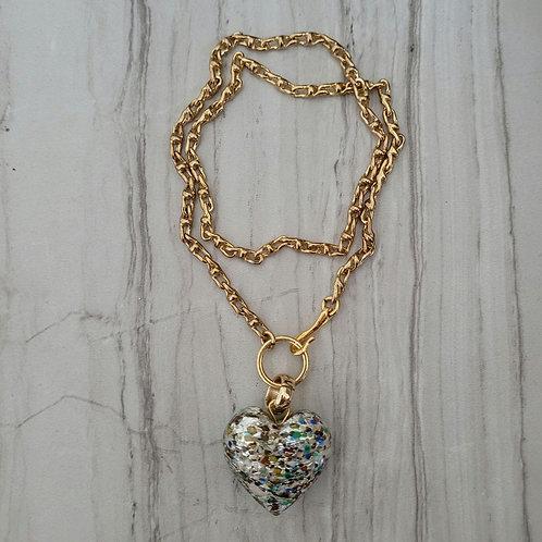 Confetti Heart Necklace