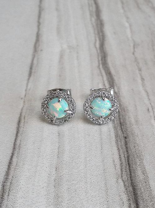 Opal Swarovski Stud Earrings