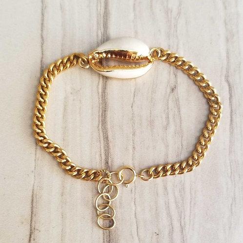 Enamel Cowrie Shell Bracelet