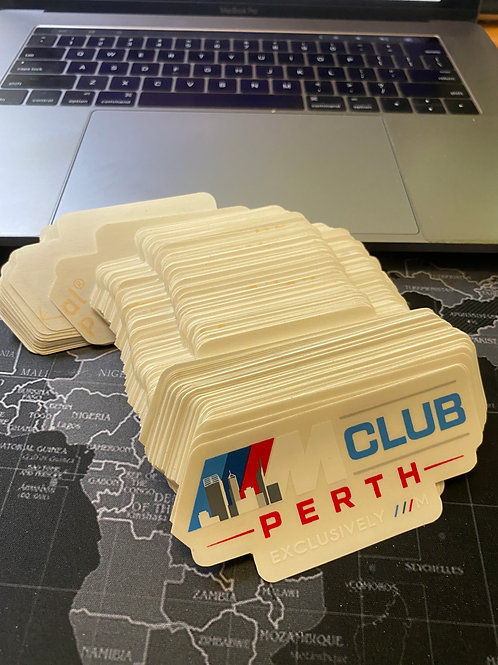 ///M Club Stickers (Limited Edition, Previous logo)