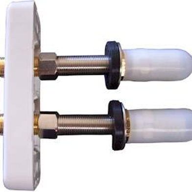 EXPLORE OZ DOUBLE WALL PLATE FOR IQ BOX - THRU THE WALL FITTING