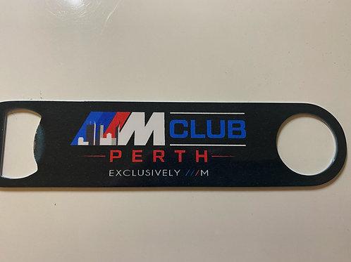 M Club bottle opener