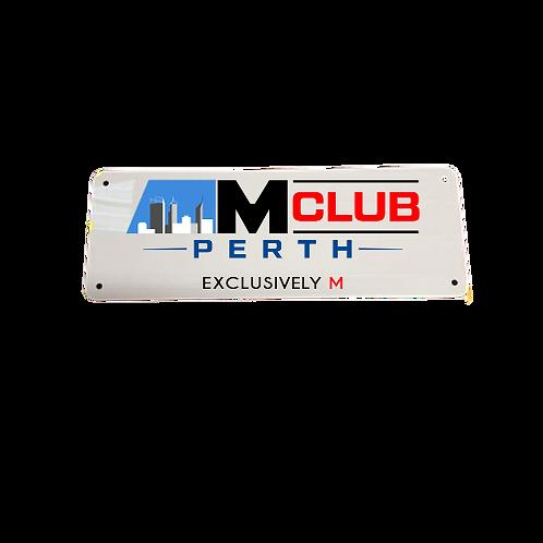 ///M Club Number plate single.