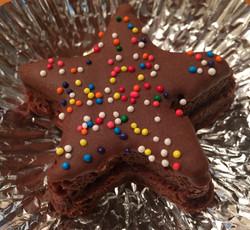 Star Brownie with Sprinkles