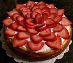 Cheesecake with Fresh Strawberries