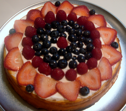 Cheesecake Topped with Fruit