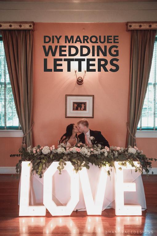 Giant Love Sign DIY Wedding Tutorial
