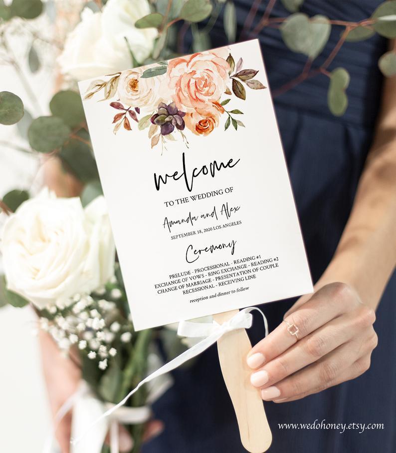 Wedding Programs as Fans