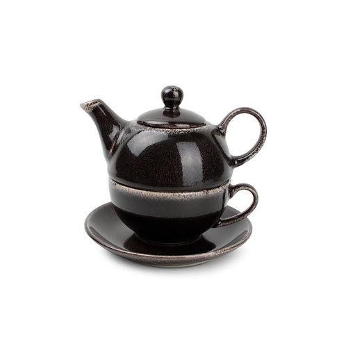 TEA FOR ONE SET ZWART ARTISAN