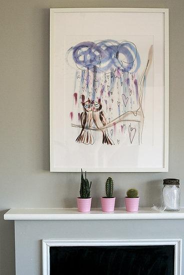"Print - ""Raining Love"" by Felicity Elena Haf"