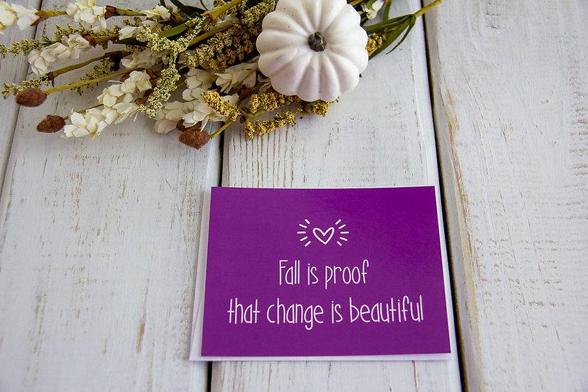 Change is Beautiful - Postcard