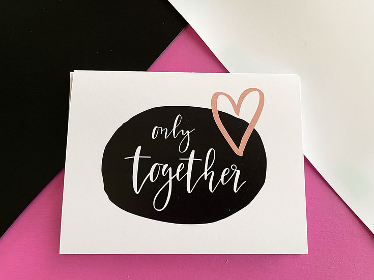 Only Together Note Card