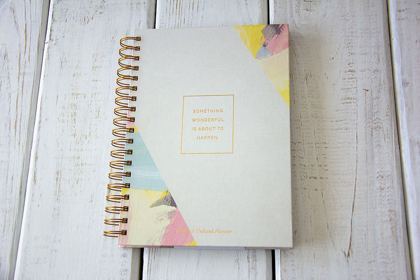 Something Wonderful - 17 Month Undated Planner