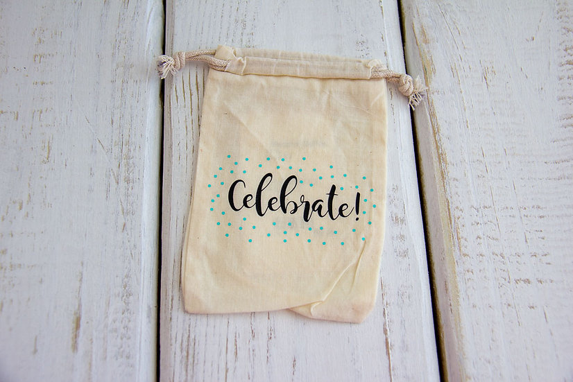 Celebrate - Muslin Small Pouch