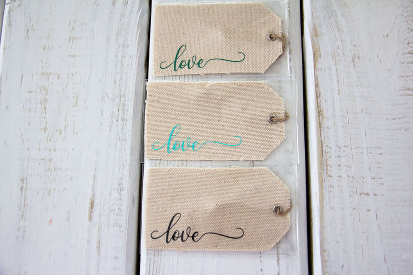 Love - Canvas Gift Tag