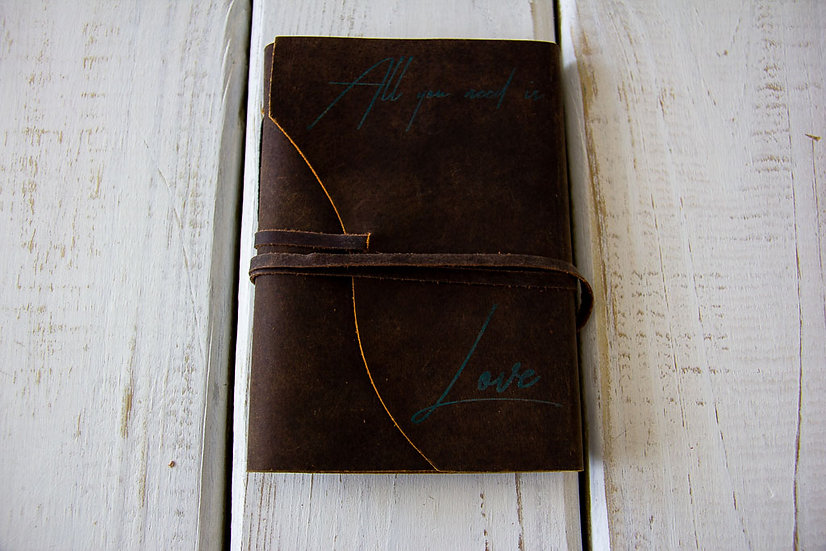 All You Need is Love - Small Leather Journal
