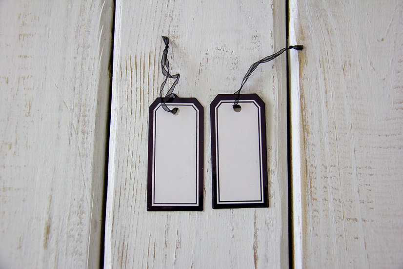 Black and White Plain Gift Tags
