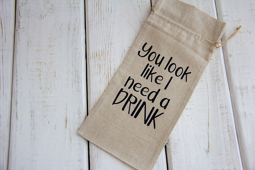 Need A Drink - Canvas Alcohol Gift Bag