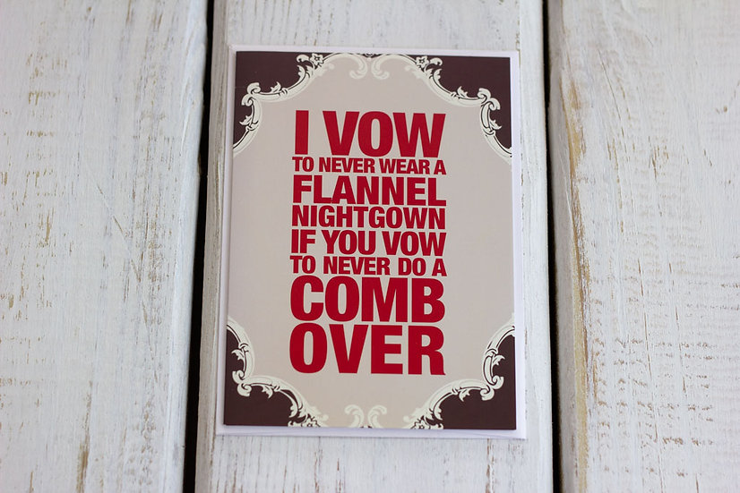 Flannel Nightgown (Anniversary) - Greeting Card