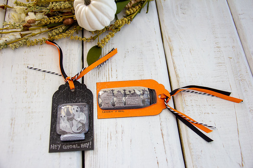 Large Halloween Tags - Assorted