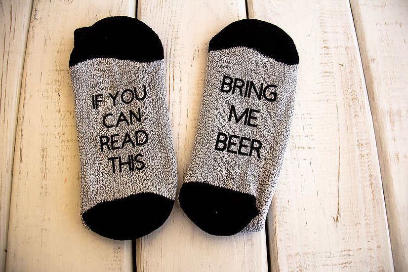 Mens Thermal Socks With Sayings On The Bottom