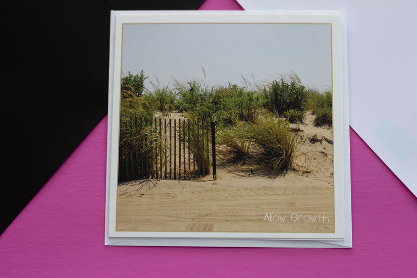 Allow Growth - Square Greeting Card