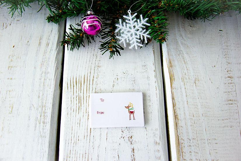 Reindeer - Adhesive Gift Tags