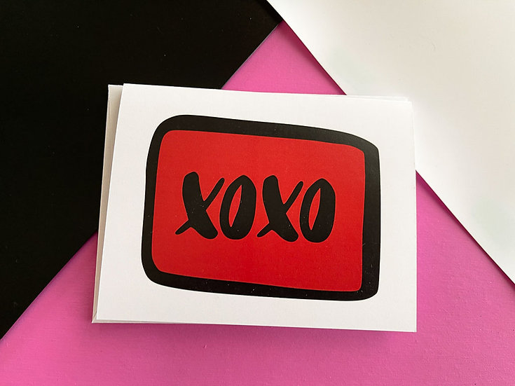 XOXO Note Card