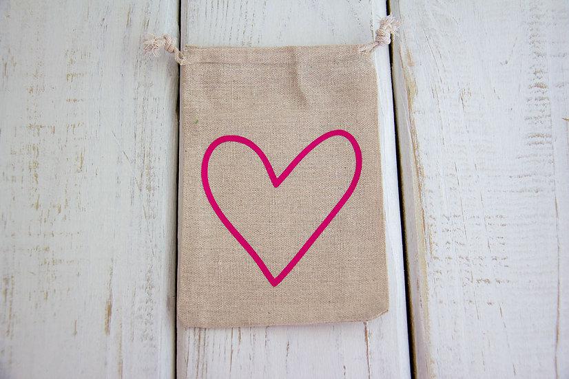 Open Heart - Canvas Medium/Tall Pouch