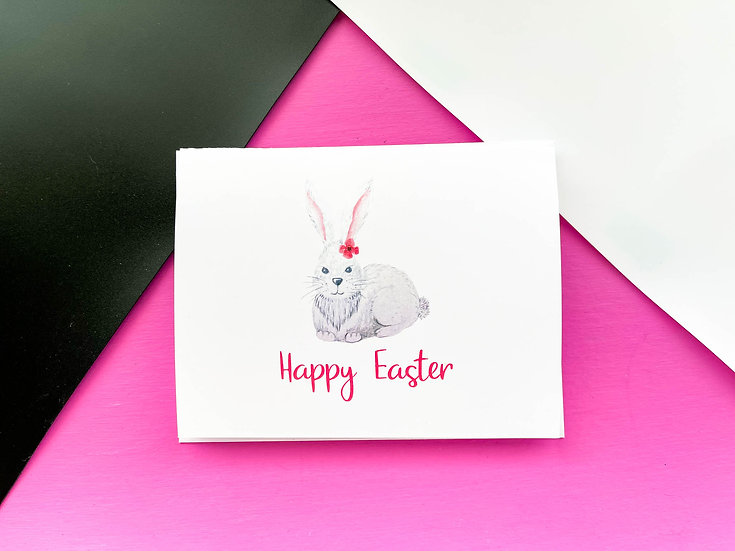 Bunny Easter Note Card
