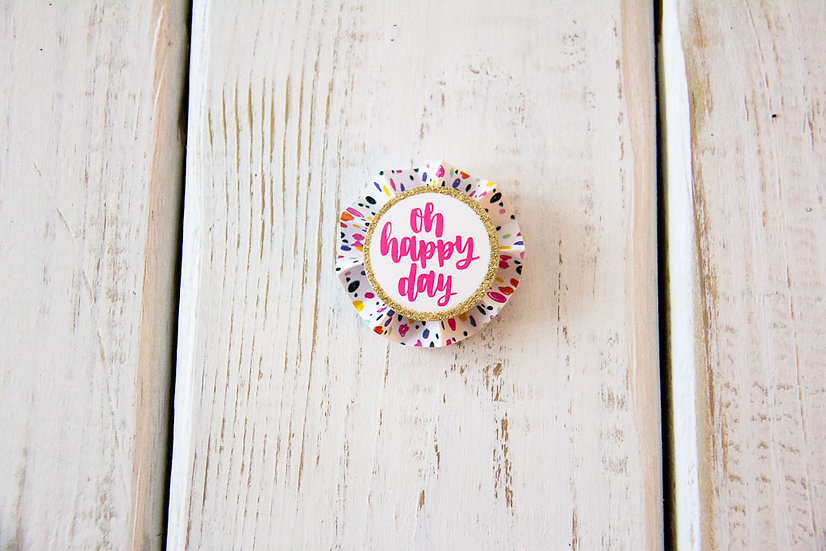 Oh Happy Day - Gift Wrap Embellishment