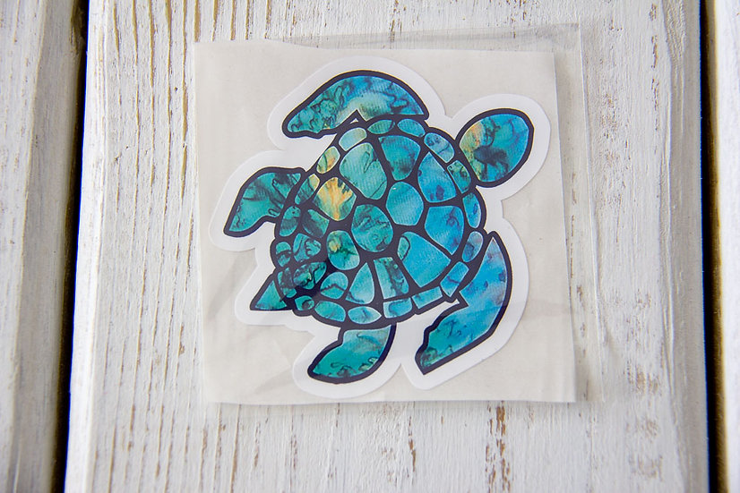 Turtle Vinyl Sticker - Waterproof