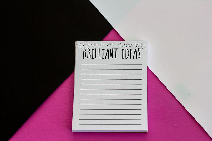 Brilliant Ideas Notepad - Premium
