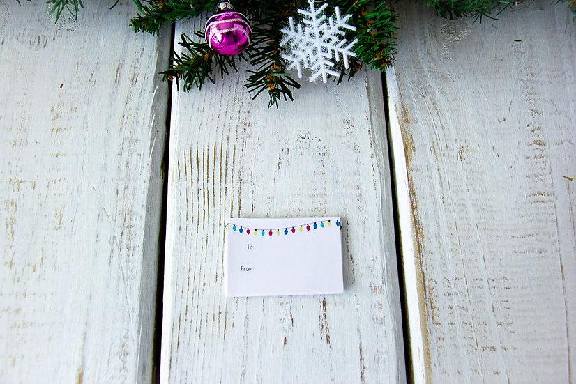 Christmas Lights - Adhesive Gift Tags