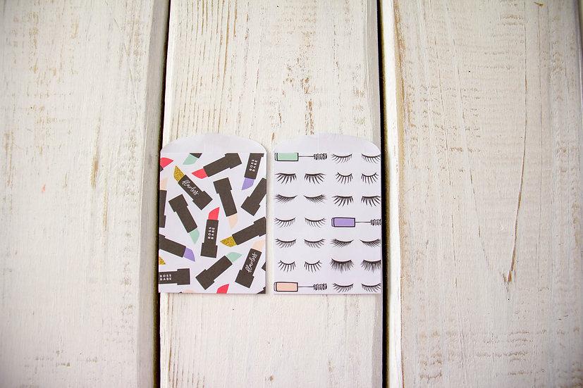 Makeup Paper Gift Card Bags