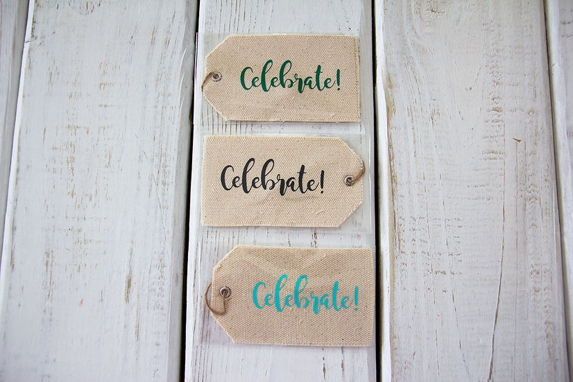 Celebrate - Canvas Gift Tag