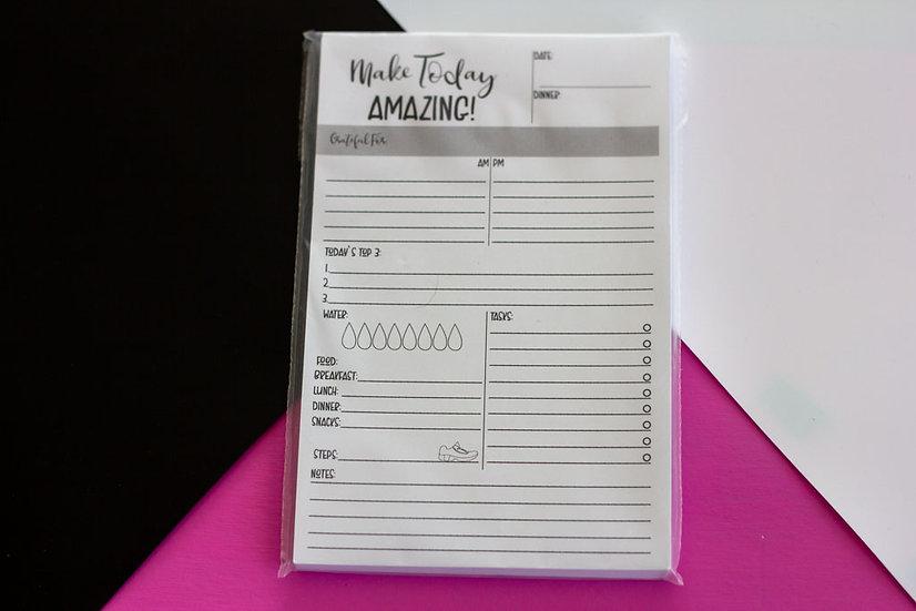 Make Today Amazing Notepad - Half Sheet