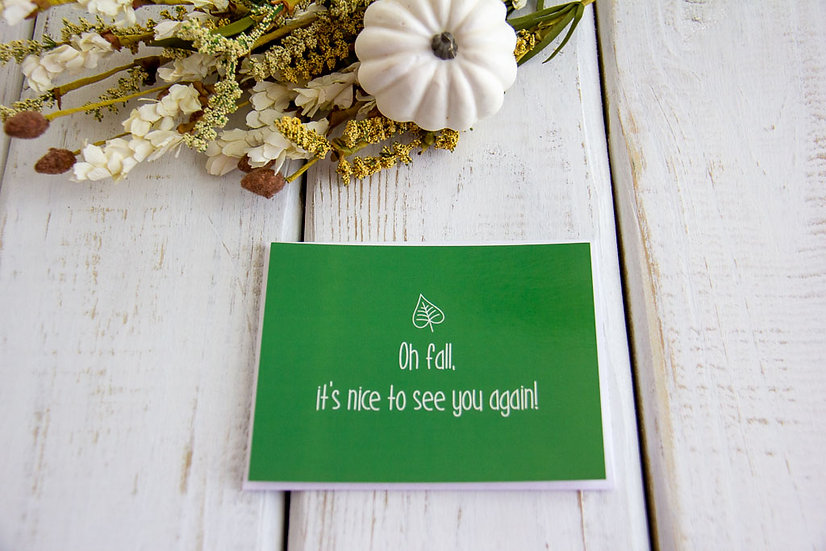 Oh Fall - Post Card