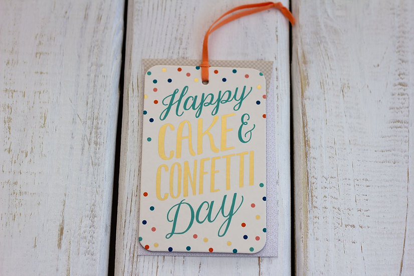Cake & Confetti (Birthday) - Greeting Card/Tag