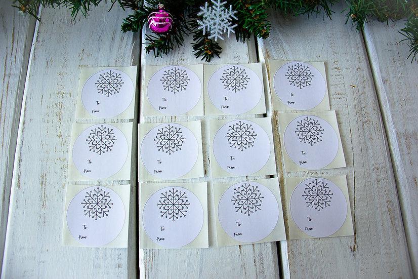 Snowflakes - Adhesive Gift Tags